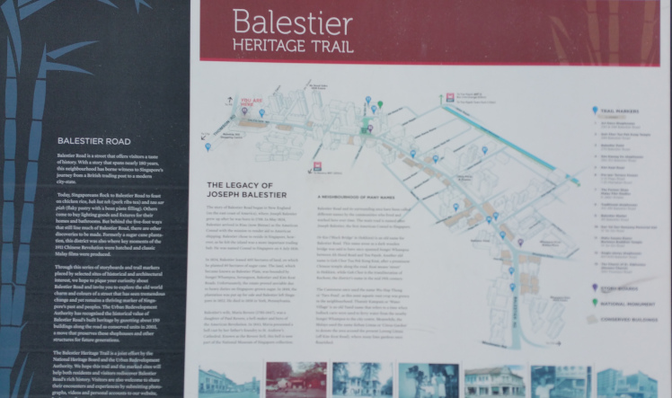 Going on heritage trails are unique things to do in Balestier