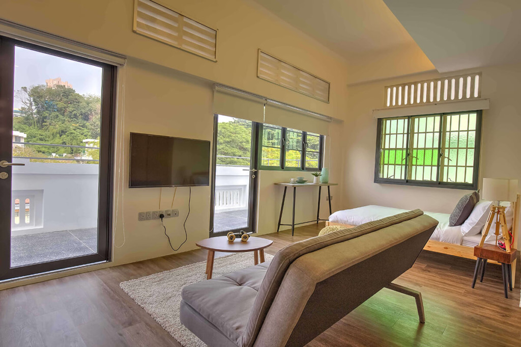 Living room view of Outram expat accommodation in Singapore