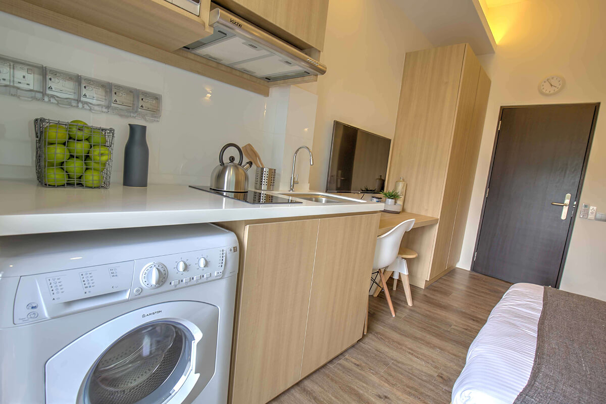 Pantry view of Outram expat accommodation in Singapore