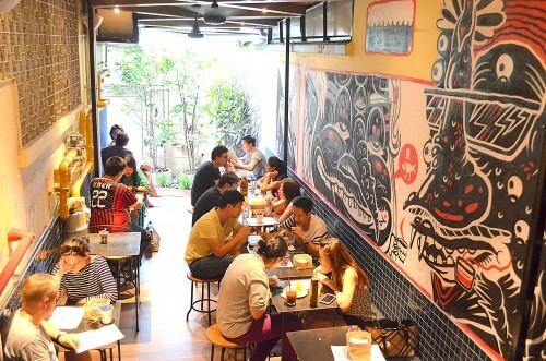 Cafe near best place to stay in Outram